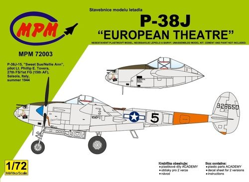 "P-38J Lightning ""European Theatre""1/72"