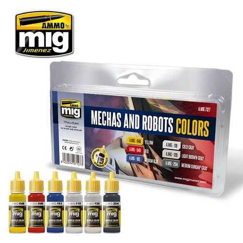 Mechas Robots Colors Set