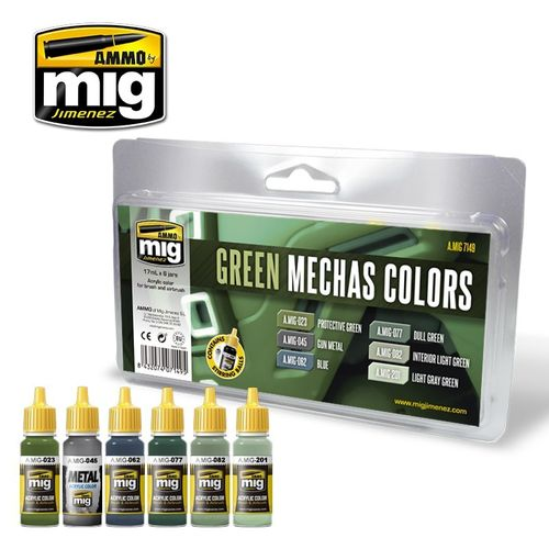 Green Mechas Colors Set