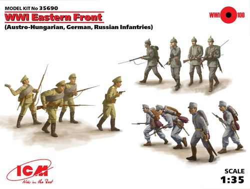 Austro-Hungarian,German,Russian Infantries, WWI 1/35