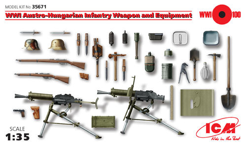 Austro-Hungarian weapons and equipment WWI 1/35