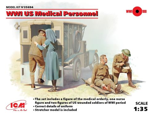 US Medical Personnel, WWI 1/35