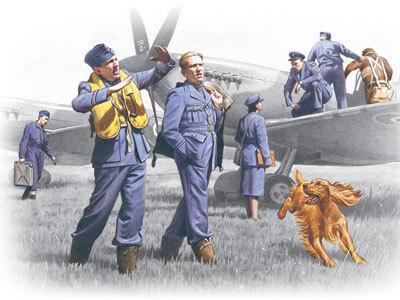 WWII RAF Pilots and Ground Personnel (1939-1945) 1/48