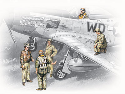 WWII USSAF Pilots and Ground Personnel (1941-1945) 1/48