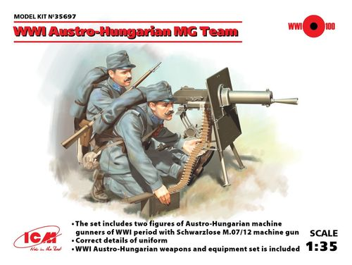 WWI Austro-Hungarian MG Team 1/35
