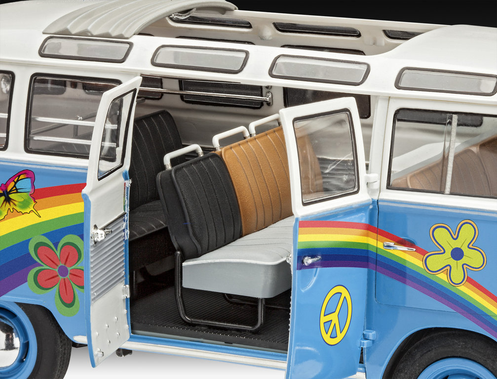 vw t1 samba bus flower power 1 24. Black Bedroom Furniture Sets. Home Design Ideas