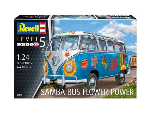 VW T1 Samba Bus 'Flower Power'  1/24