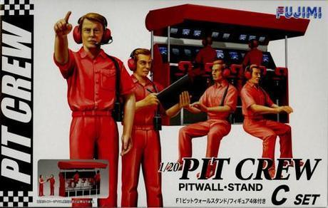 F1 Pit Crew Set C: Wall Stand 1/20