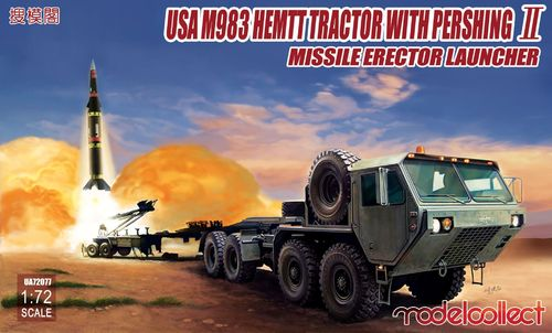 USA M983 HEMTT Tractor Pershing II Missile Erector Launcher  1/72