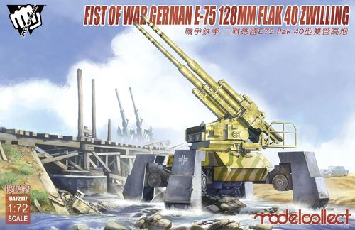 Fist of War WWII E75 flak 40 ZWILLING panzer 1/72