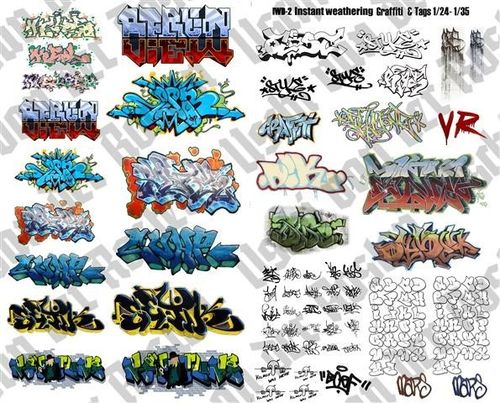 Instant GRAFFITI decals