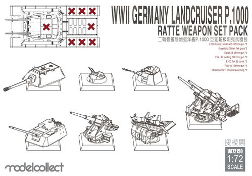 landcruiser p.1000 ratte weapon set pack