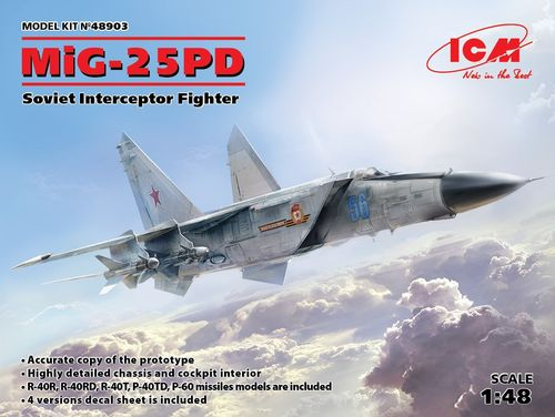 MiG-25 PD, Soviet Interceptor Fighter 1/48