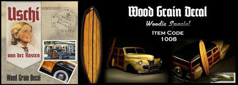 """Woody"" special wood grain decal"
