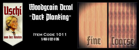 "Woodgrain decal ""dark planking"""