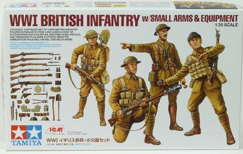 WWI British Infantry And Small Arms Fire Set 1/35