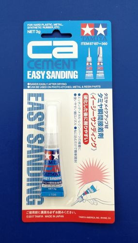 Tamiya Secondenlijm Easy Sanding (CA Cement)