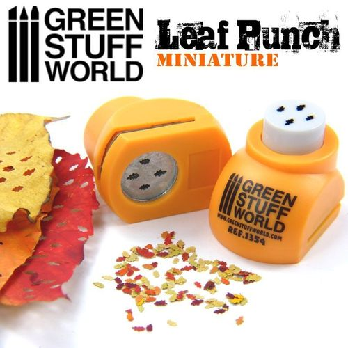 Miniature Leaf Punch Orange (Oak)