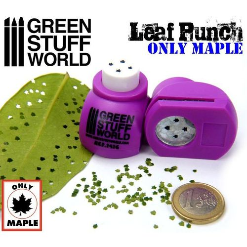 Miniature Leaf Punch Medium Purple (Maple)