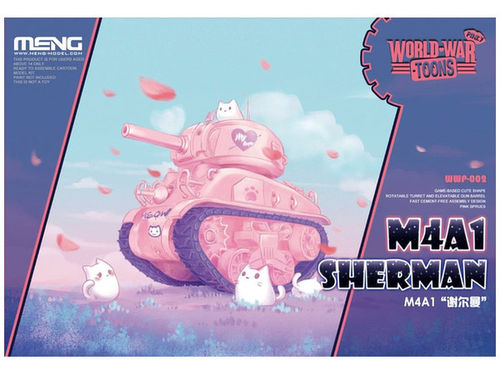 M4A1 Sherman (Cartoon Model,Pink Color)