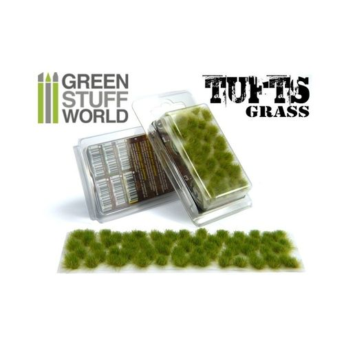 Tufts Grass Realistic Green  6mm self-adhesive