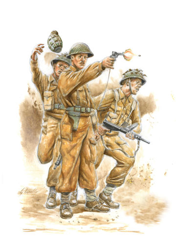 WWII British Commonwealth Infantry (+verf/lijm/penseel)