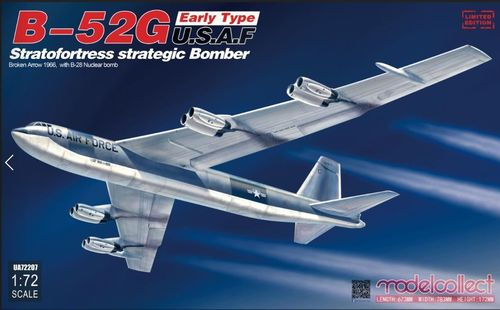 B-52G early Broken Arrow 1966 + B-28 Nuclear bomb 1/72