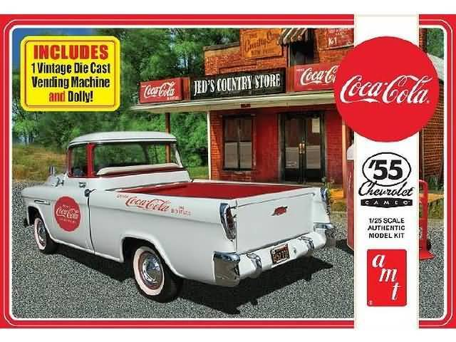 1955 Chevy Cameo Pick Up Coca-Cola + extra's 1/25
