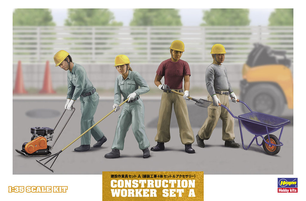 Construction Workers Set-A 1/35