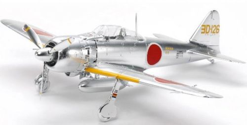Mitsubishi A6M5/5a (ZEKE) Zero Fighter Silver Plated