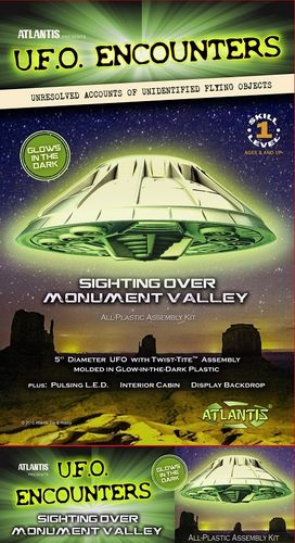 UFO Encounters Monument Valley UFO Glow in the Dark Edition with Light
