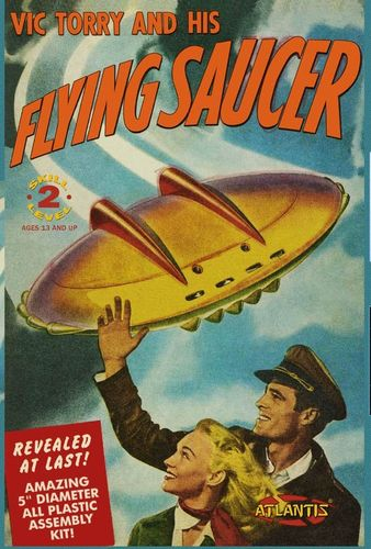 Vic Torry and his Flying Saucer UFO 5 with Light