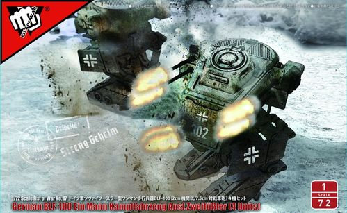Fist of War: Blf-100A light fighting Mechs  1/72