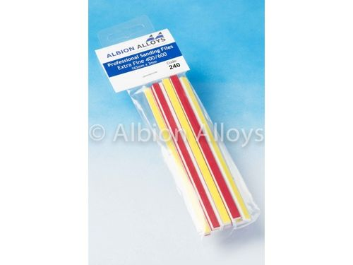 Professional Sanding Files Extra Fine 400/600 Grit (6mm)
