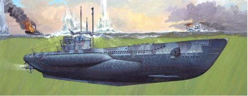 German Submarine Type VII C/41 1/72 Platinum Edition