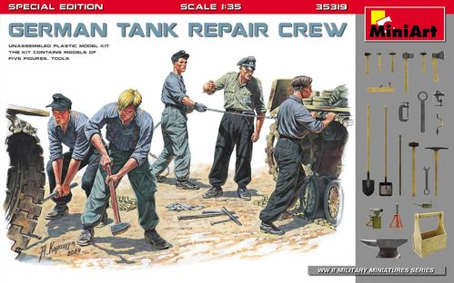 German Tank Repair Crew.Special Edition 1/35