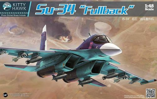 "Su-34 ""Fullback"" With metal parts  1/48"