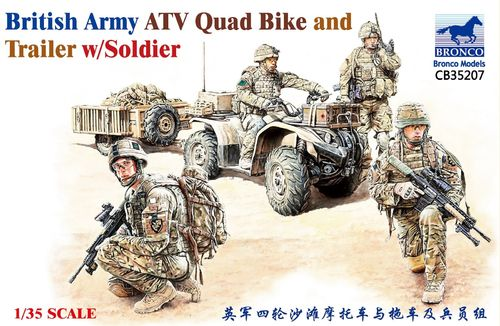 British Army ATV Quad Bike and Trailer w/Soldiers 1/35