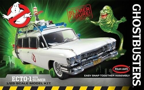 Ghostbusters Ecto-1 + Slimer 1/25