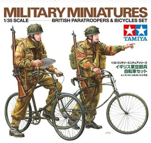 WWII British Paratroopers & Bicycle set1/35