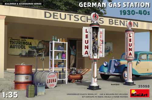 German Gas Station 1930-40  1/35