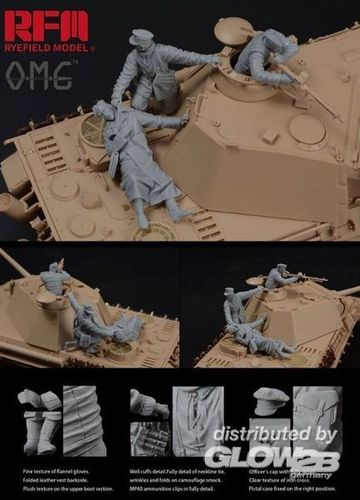 Figures for Panther G, Fallen Resin  1/35