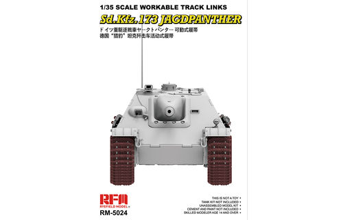 RM-5017 TIGER I LATE PRODUTION WORKABLE TRACK LINKS  1/35