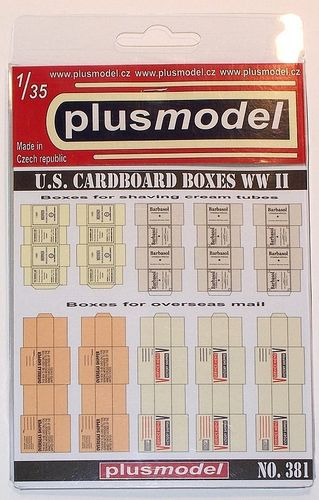US Cardboard Boxes WWII 1/35