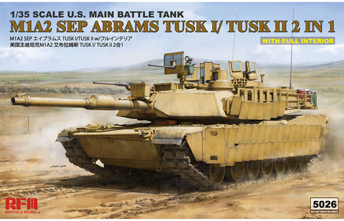 M1A2 TUSK I/ TUSK II WITH FULL INTERIOR  1/35