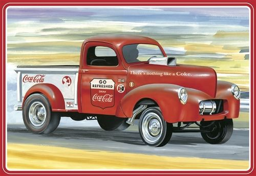 """Coca-Cola"" 1940 Willys Pickup Gasser 1/25"