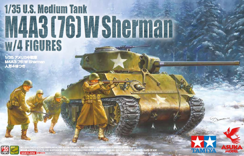 U.S M4A3(76)W Sherman with Figures 1/35