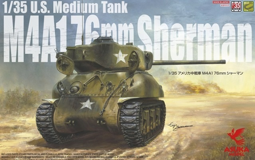 US Medium Tank M4A1 76mm Sherman 1/35