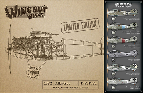 "Albatros D.V ""Camouflaged"" - LIMITED EDITION  1/32"