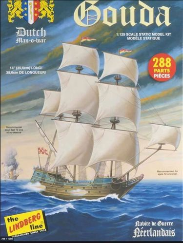 Gouda Dutch Man-o-war ship  1/144